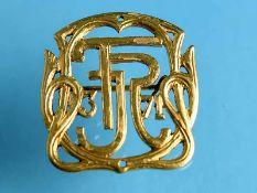 Applikation/ Nadel des 3. Garderegiment 71, von Fritz Reuter, 1871 585/- Gelbgold. Gesamtgewicht ca.