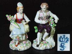Paar Figurinen. SITZENDORF/Thürigen. Paar Figurinen. SITZENDORF /Thüringen, 2. Hälfte 20.