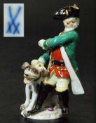 "Figurengruppe Miniatur ""Jäger mit Hund"". Figurengruppe Miniatur ""Jäger mit Hund"". MEISSEN 1980, 1."