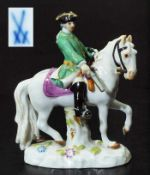 """Figurengruppe Miniatur """"Jäger zu Pferd"""". Figurengruppe Miniatur """"Jäger zu Pferd"""". MEISSEN 1980, 1."""