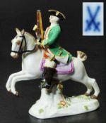 """Figurengruppe Miiniatur """"Jäger zu Pferd"""". Figurengruppe Miniatur """"Jäger zu Pferd"""". MEISSEN 1980,"""