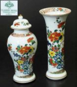 Designer-Vase, Deckelvase. Designer-Vase, Deckelvase. ROSENTHAL Classic Rose. Wandung mit