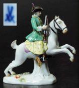 "Figurengruppe Miniatur ""Jägerin zu Pferd"". Figurengruppe Miniatur ""Jägerin zu Pferd"". MEISSEN"