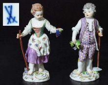 Zwei Gärtnerkinder (Winzerpaar). Zwei Gärtnerkinder (Winzerpaar). MEISSEN 1923 - 1934, 1. Wahl. Nach