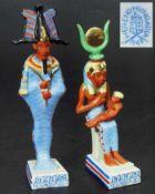 Ägyptische Figuren. HEREND. Ägyptische Figuren. HEREND/Ungarn. 20. Jahrhundert. Farbig bemalt. 1)