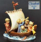 "Große Figurengruppe. Große Figurengruppe. HUMMEL, Modell Nr. 1988. ""Land in Sicht"", Manufaktur"