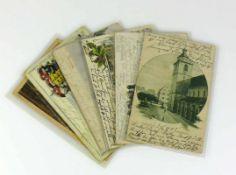 6 alte Ansichtskarten 6x Radolfzell, Singen und Bodman;