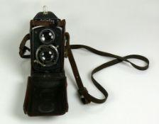 Rollei-Flex-Kamera (30er Jahre) Franke & Heidecke, Braunschweig; Nr. 523793; Objektiv: Carl Zeiss,