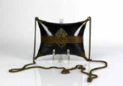 Biedermeier-Abendtasche (ca. 1840) wie vor. Position jedoch kleiner; 11 x 14 x 6 cm