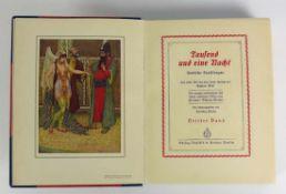 Tausend und eine Nacht arabische Erzählungen von Ludwig Fulda; Berlin 1914; 4 Bände; reichhaltig