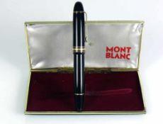 Montblanc-Füllhalter Meisterstück 149; 18ct Goldfeder; in Original-Box