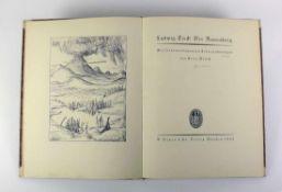 """Tieck, Ludwig """"Der Runenberg""""; von 1922; mit 27 Federzeichnungen von Felix Meseck; R. Piper & Co."""