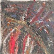 RUDOLF POLANSZKY (1951 WIEN) o. T., 1983 Öl auf Leinwand, 90,5 x 89,3 cm Signatur Rückseite