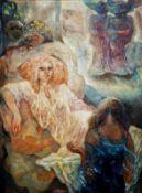 DINA LAROT (1942 WIEN) o. T., 1978 Öl auf Leinwand, 132 x 97 cm gerahmt, Maß mit Rahmen: 139 x 104
