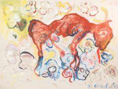 OSWALD OBERHUBER (1931 MERAN) o. T., 1982 Öl auf Leinwand, 156 x 208 cm Signatur vorne rechts unten: