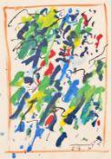 OTTO MUEHL (1925 GRODNAU - 2013 MONCARAPACHO) o. T., 1983 Mischtechnik auf Papier, 44,5 x 31,5 cm,