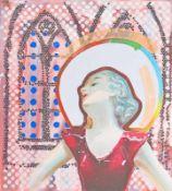 MARTIN PRASKA (1963 WIESLOCH) GOTIK, 2012 Acryl auf Leinwand, 100 x 90 cm Signatur Rückseite