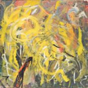 RUDOLF POLANSZKY (1951 WIEN) o. T., 1985 Öl auf Leinwand, 91,1 x 90,8 cm Künstlerrahmen Signatur