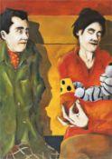 ALFREDO BARSUGLIA (1980 Graz) INTERCITY GRAZ-WIEN, 2000 Öl auf Leinwand, 100 x 70 cm Signatur