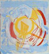 EVA ESZTER BODNAR (1952 BUDAPEST) RAUM KONSTRUKTION, 1985 Öl auf Leinwand, 120 x 110 cm gerahmt, Maß