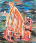 HUBERT SCHMALIX (1952 GRAZ) o. T., 1982 Öl auf Leinwand, 190 x 160 cm Signatur vorne links oben: