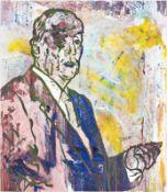 OTTO MUEHL (1925 GRODNAU - 2013 MONCARAPACHO) o. T., 1989 Unikatsiebdruck auf Kartonpapier, 99,5 x