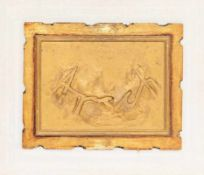 FRANZ WEST (1947 WIEN - 2012 WIEN) ARSCH Relief 38 x 48 cm auf Holzpanel 53 x 62 cm Signatur vorne