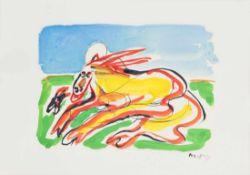 OTTO MUEHL (1925 GRODNAU - 2013 MONCARAPACHO) o. T., 1984 Mischtechnik auf Papier, 35 x 49 cm,