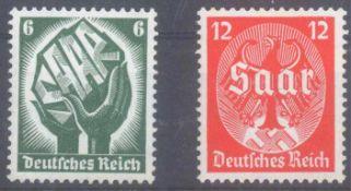 III. Reich 1934, SaarabstimmungMichelnummern 544-545, postfrisch Luxus mit sehr gutenZentrierungen