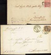 """NORDDEUTSCHER POSTBEZIRK 1970/1971, LICHTENBERG (Freiberg)2 Briefe, mit R 3 """"LICHTENBERG / B."""
