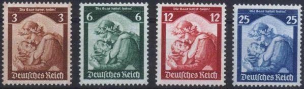 III. Reich 1935, SaarabstimmungMichelnummern 565-568, postfrisch Luxus, Katalogwert 120,-Euro