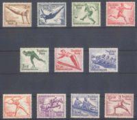III. REICH 1935/1936, Olympiade, Katalogwert 200,- EuroMichelnummern 600 bis 602 und 609-616,