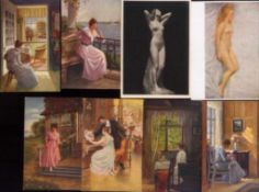ANSICHTSKARTEN DEUTSCHES REICH, Kunstkarten21 verschiedene ungebrauchte Ansichtskarten in