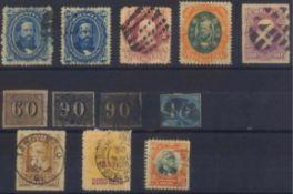 BRASILIEN, klassische Marken ab 1844 (VERTICAIS)gesamt 12 Stück in unterschiedlicher Erhaltung!!