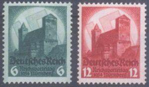 III. Reich 1934, Reichsparteitag NürnbergMichelnummern 546-547, postfrisch Pracht, Katalogwert 85,-
