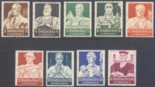 III. Reich 1934, StändesatzMichelnummern 556-564, postfrisch Luxus, die 3 Höchstwertetiefst