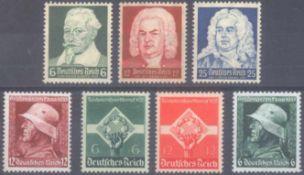 III. Reich 1935, 3 komplette SätzeMichelnummern 569x/570x -575, je postfrisch Luxus,