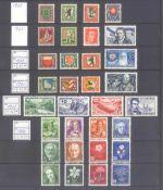 SCHWEIZ 1925-1946 PRO JUVENTUTE und PRO PATRIA13 verschiedene komplette Sätze aus oben genannten