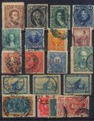 1867 ARGENTINIENklassische Marken ab 1867, gesamt 20 Stück inunterschiedlicher Erhaltung