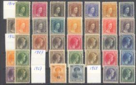 LUXEMBURG 1914-19285 komplette Freimarken - Ausgaben in sauberer postfrischerQualität. Mit den