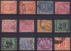 1867 ÄGYPTENklassische Marken ab 1867, gesamt 12 Stück inunterschiedlicher Erhaltung.