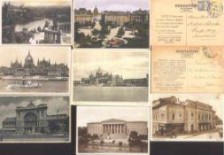 UNGARN, ANSICHSTKARTEN 1911-1997230 Stück, an die 90 % Topographie, alles gelaufen. Dabeiauch einige