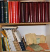 KARLSRUHER NACHLASSinteressant hier die alten Tüten mit Marken vom DeutschenReich, alte Auswahlhefte