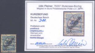 1923 DEUTSCHES REICH - INFLA Dienstmarke, 50 MilliardenMark, Ziffer in Rosette, Schlangenaufdruck,