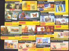 2000-2006 Bund, MARKENHEFTCHEN, 129,- Euro NOMINALELot von 16 verschiedenen, POSTFRISCHEN