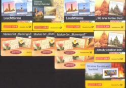 2004-2007 Bund, MARKENHEFTCHEN, 61,- Euro NOMINALELot von 10 POSTFRISCHEN Markenheftchen mit einer