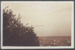 "1910 ZEPPELIN LZ 6, sehr seltene Fotopostkarte! Pforzheimgelaufene Fotopostkarte von ""HUCHENFELD"" ("