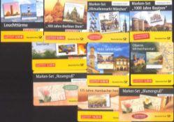 2002-2007 Bund, MARKENHEFTCHEN, 65,- Euro NOMINALELot von 10 verschiedenen, POSTFRISCHEN