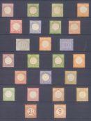DEUTSCHES REICH - BRUSTSCHILDE 1872-1874, 24 WERTE!Sammlung von 24 Brustschildwerten (Kleines und