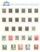 III. REICH 1933-1945postfrische Sammlung im kompletten BOREK - Falzlosvordruckmit geschichtlichem